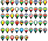 Flags of African countries like pins — Stock Vector