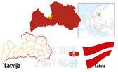 Latvia — Stock Vector