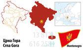 Montenegro — Stock Vector