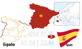 Map of Spain — Stock Vector