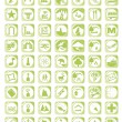 Green map icon set — Stock Vector #17589365