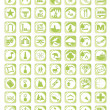Stock Vector: Green map icon set