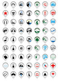 Pin icon set for maps — Stock Vector