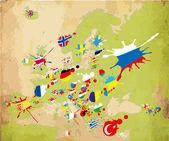 Spot Europe flags — Stock Vector