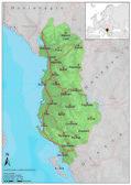 Albania road relief map — Stock Vector