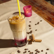 Image of cold coffee drink on table — Stock Photo