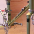 Footage of bicycle gears, pedal and foam — Stock Video #38880545