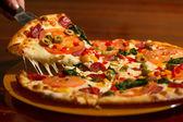 Image of slice of pizza — Stock Photo