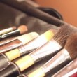 Stock Video: Footage of make up instruments, brushes and case