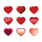 Set of hearts 1 — Stock Vector