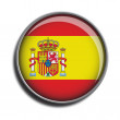 Stock Vector: Flag icon web button spain