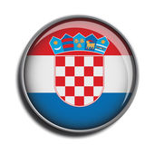 Flag icon web button croatia — Stock Vector