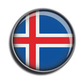 Flag icon web button iceland — Stock Vector