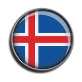 Flag icon web button iceland — Stock Vector