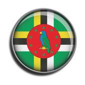 Flag icon web button dominica — Stock Vector