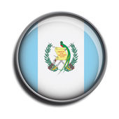 Vlajka ikonu webové tlačítko guatemala — Stock vektor