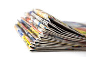 Stack of newspapers close-up — Stockfoto