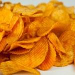 Handful of potato chips — Stock Photo #39020865