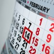 Wall calendar calendar with the number of days — Stock Photo #39020953