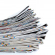 Stock Photo: Stack of newspapers close-up
