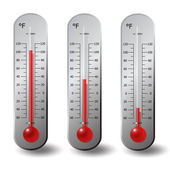 Thermometers Fahrenheit degree set — Stock Vector