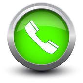 Button telephone call 2d — Stock Vector