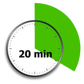 Clock face stopwatch — Stockvector