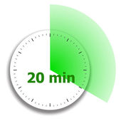 Clock face stopwatch — Stock Vector