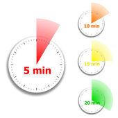 Saat yüzü kronometre desen — Stok Vektör