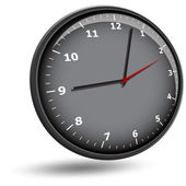 Wall clock face — Stock Vector