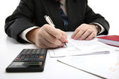 Man signing a contract — Stock Photo