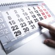 Stock Photo: Wall calendar calendar with number of days
