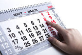 Wall calendar with the number of days — Stock Photo