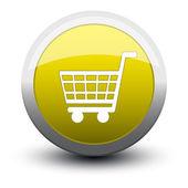 Button basket 2d — Stock Vector
