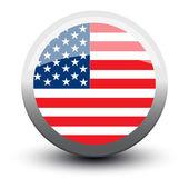 Bayrak simgesi web button kullanımı — Stok Vektör