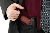 Makarov pistol in his pants — Foto Stock