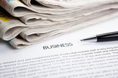 Document with the title of business — Stock Photo