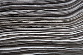 Stack of newspapers closeup — Stock Photo