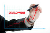 Diagram with the word development — Stock Photo