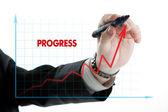 Diagram with the word progress — Φωτογραφία Αρχείου