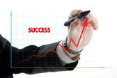 Diagrama com o sucesso da palavra — Fotografia Stock