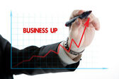 Diagram with the word business up — Стоковое фото
