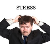 Businessman in stress — Stock Photo