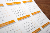 Wall calendar with number of days — Stock Photo