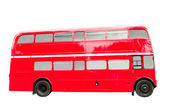 Red Double Decker Bus Isolated on White Backgroun — Stock Photo