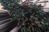 Steel rod in warehouse — Stock Photo