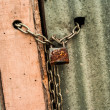 Padlock with chain — Stockfoto