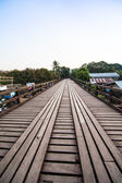 Wood bridge Sangkhla Buri Distric — Stock Photo