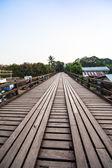 Wood bridge Sangkhla Buri Distric — Stock Photo