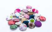 Colores de los botones de la tela — Foto de Stock